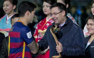 Bartomeu se refirió al fichaje de Suárez por el Barça
