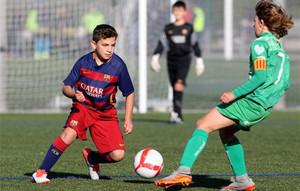 Barça y Cornellà, dos de los equipos más competitivos en categoría alevín