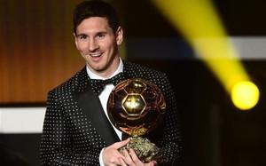 Leo Messi, con su cuarto Balón de Oro consecutivo, en el 2012