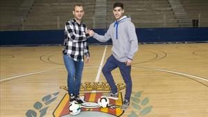 Dani Salgado y Adolfo se desearon suerte de cara al derbi catalán del sábado