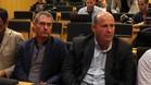Pep Segura, junto a Òscar Grau, en el acto de presentación del cierre del mercado futbolístico