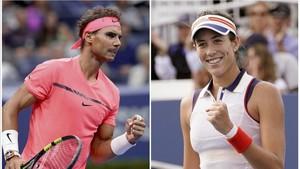 Nadal y Muguruza, en lo más alto del tenis mundial