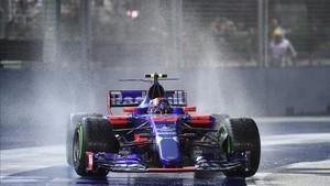 Carlos Sainz, cuarto en Singapur