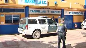 La guardia civil, en las dependencias del Marbella