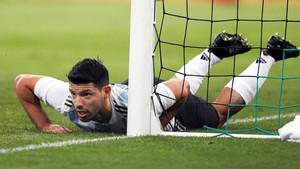 Agüero ha dejado atrás el susto con Argentina