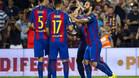 Alegría en las filas del FC Barcelona, campeón de la Supercopa de España
