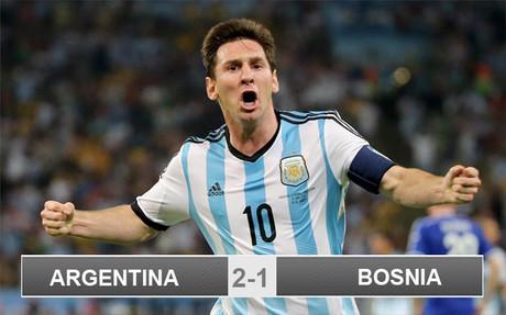Argentina 2-1 Bosnia