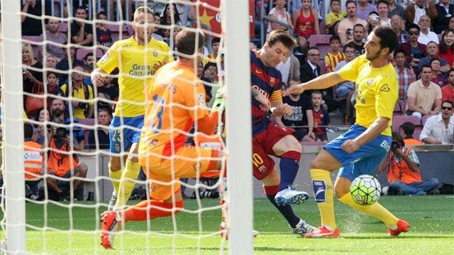 Así se lesionó Messi en el Barça - Las Palmas de la temporada pasada