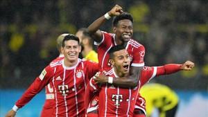 El Bayern se merendó al Dortmund y lo celebró por todo lo alto