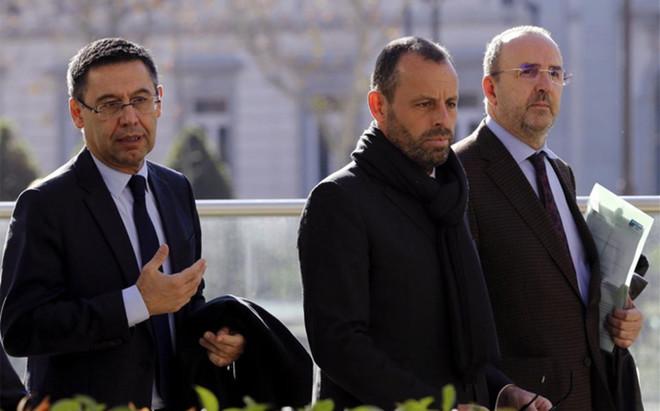 Si se confirmara el acuerdo, se retirar�an las peticiones de prisi�n para Bartomeu y Sandro Rosell