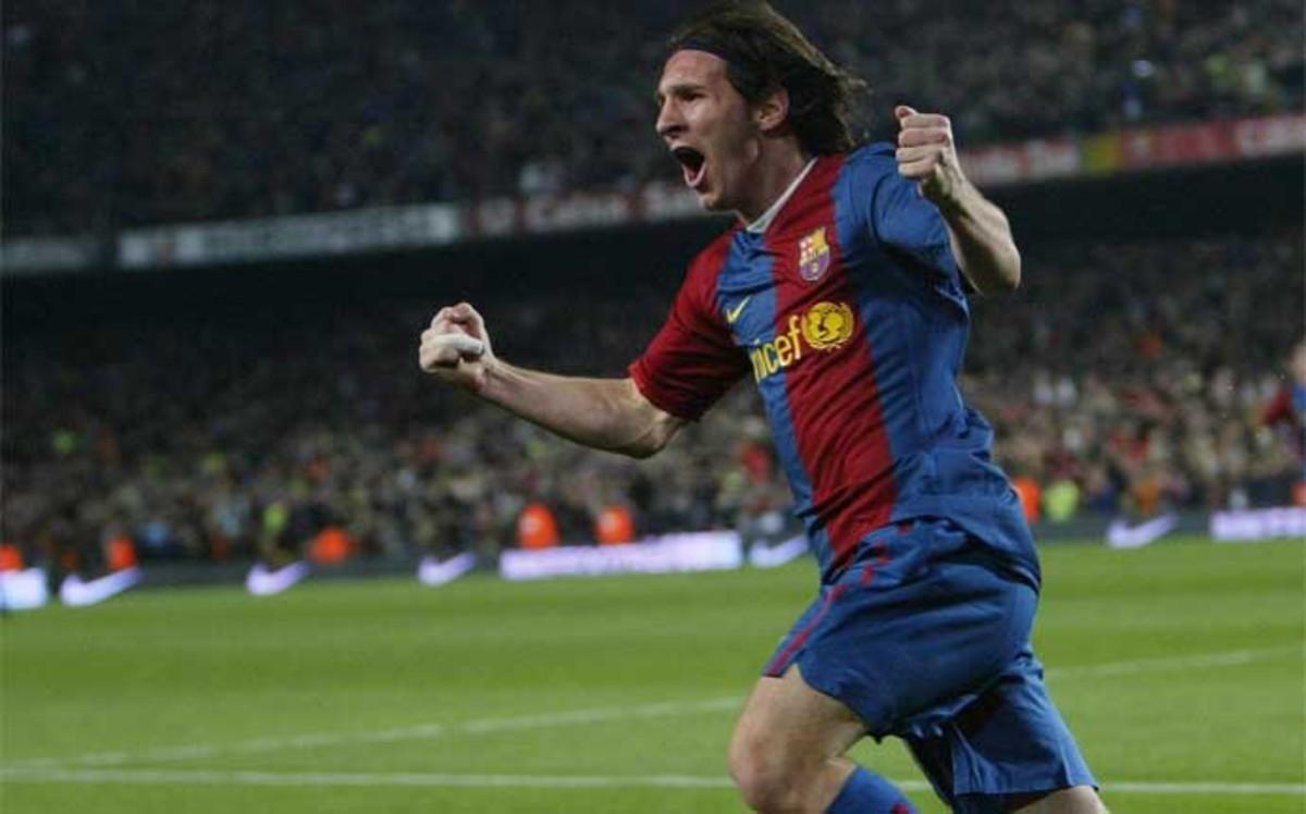 Nueve a�os del primer hat trick de Messi al Real Madrid