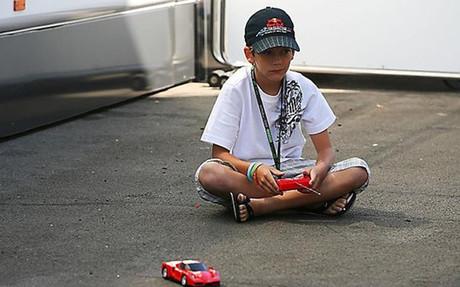Fabian Vettel, en una imagen de archivo de 2009 en el Gran Premio de Hungr�a