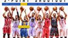 Los participantes en el concurso de triples de la NBA