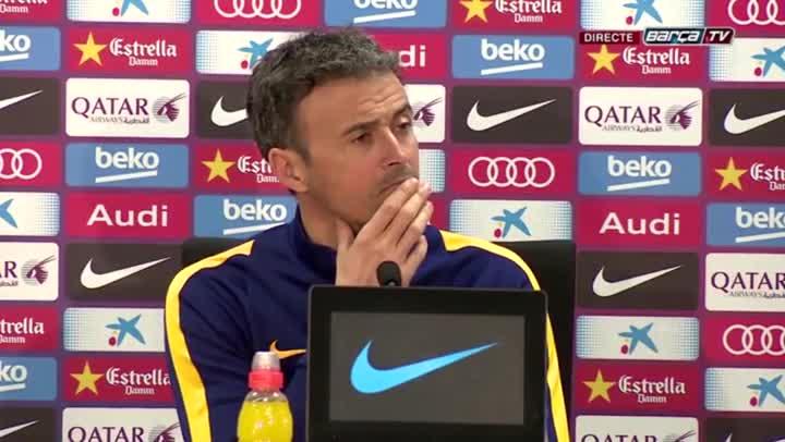 """Luis Enrique: """"Felicito a mis jugadores por no entrar en provocaciones"""""""