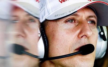 Schumacher , en su �ltima etapa en la F1