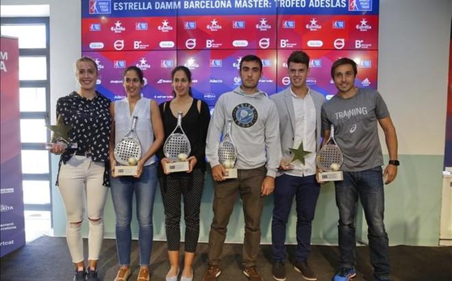 Todos los premiaos en la presentaci�n del Estrella Damm Barcelona Master