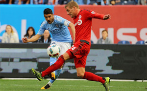 Villa marcó dos goles, pero el New York City acabó cediendo un empate