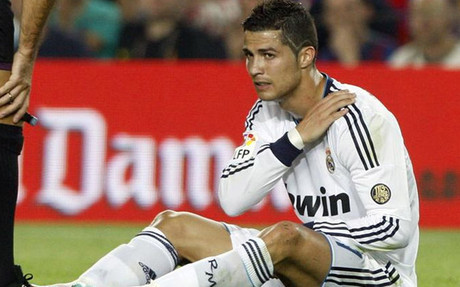 Cristiano Ronaldo cayó mal