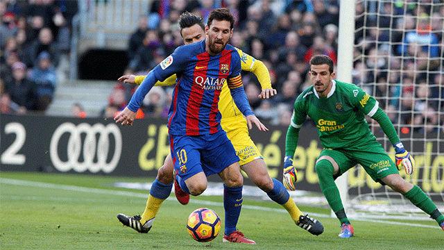 Video resumen FC Barcelona - Las Palmas (5-0). Jornada 18, Liga Santander 2016-17