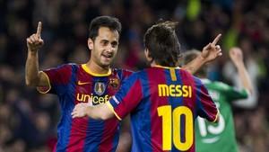 Víctor Vázquez y Messi se entendían a las mil maravillas cuando jugaban juntos en el Barça