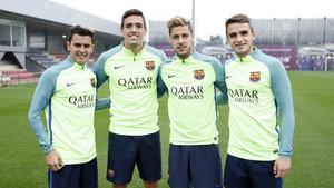 Nili, Martínez, Carbonell y Abeledo reforzaron el entrenamiento del FC Barcelona este viernes