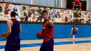 Doellman, durante un entrenamiento con el Barça Lassa