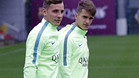 El Barça pone la vista en el derbi contra el Espanyol