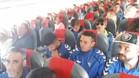 La expedición del Cádiz en uno de los aviones