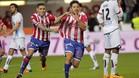 Jony celebra un gol ante el Deportivo.