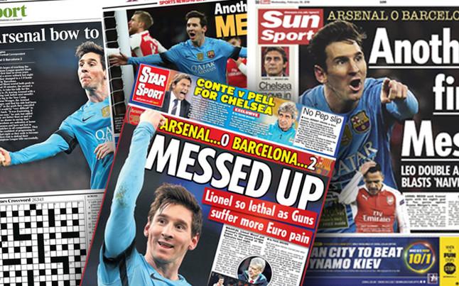 """La prensa inglesa se inclina a Leo: """"Reverencia a Messi"""""""