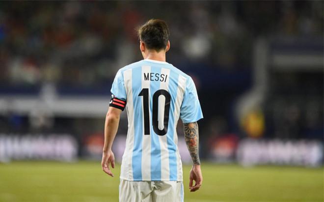 Leo Messi tras la derrota de Argentina en la final de la Copa Am�rica 2016 contra Chile