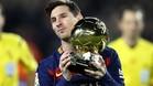 Messi, con el último FIFA Balón de oro que ganó