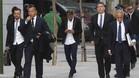 Neymar, en su visitaa la Audiencia Nacional