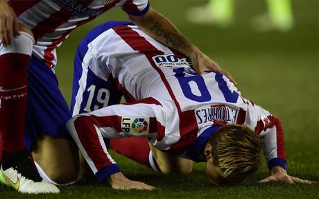 Torres celebrando su gol ante el Bar�a