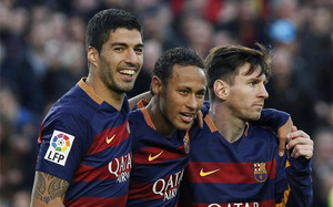 El tridente al copmpleto para el Barça-Betis