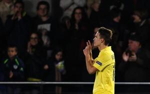 Denis Suárez celebra un gol con el Villarreal