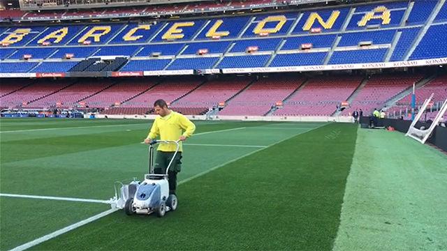 Así se prepara el Camp Nou por dentro