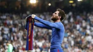 Messi celebró de una forma especial su gol 500