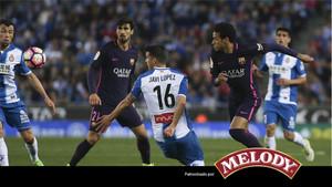 Partido muy sufrido del Barcelona ante el Espanyol