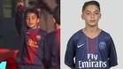 El joven centrocampista Kays Ruíz durante su etapa como canterano del Barça y ya como jugador del PSG
