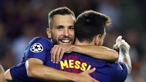 Jordi Alba y Leo Messi se entienden a las mil maravillas