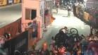 Brutal accidente en una prueba ciclista