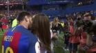 Messi recibió la felicitación de Antonella