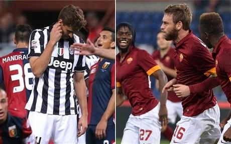 Roma y Juventus lideran la Serie A