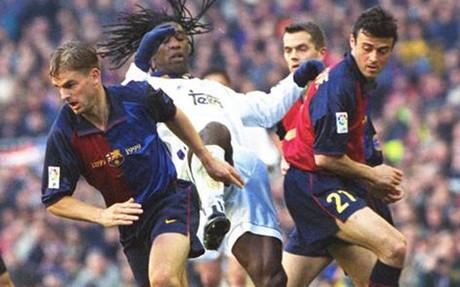 Ronald De Boer y Luis Enrique compartieron vestuario en el FC Barcelona
