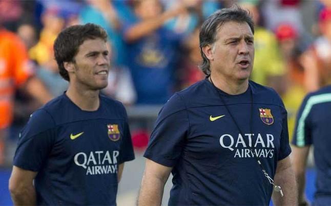 El FC Barcelona recuerda el pasado blaugrana de Rubi, entrenador del Levante