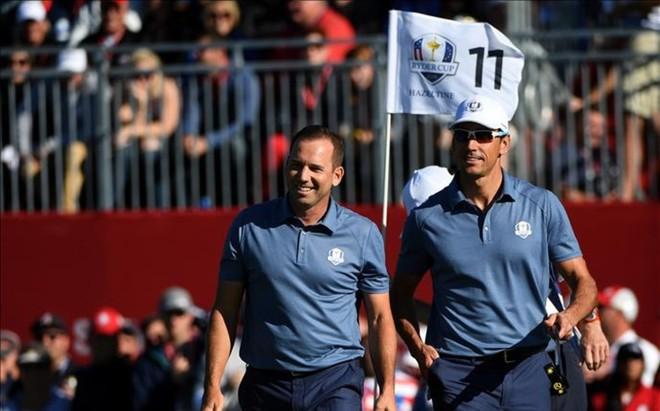Sergio Garcia y Rafa Cabrera Bello lideraron el tir�n de Europa en los fourballs