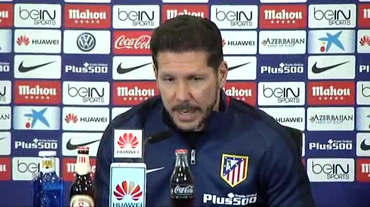 """Simeone: """"El Barcelona es muy dif�cil que pierda, es el mejor"""""""