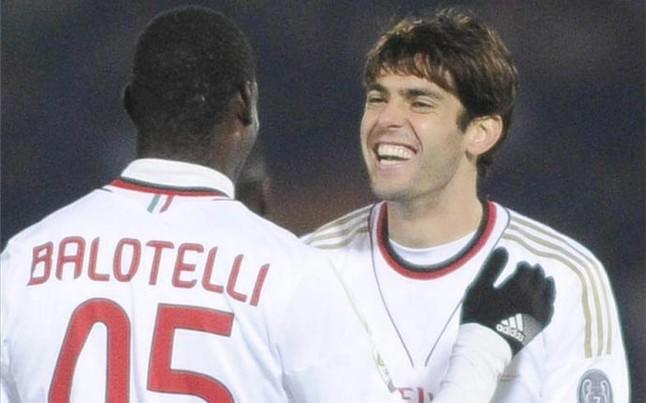 Foto Balotelli e Kaka' sempre felici quando il MIlan vince!