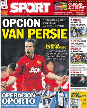 Barcelona planning to bring in Man United striker Robin van Persie in January window [Sport]